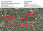 Citymap & Checkpoints of Extra Mile Endurathon Berlin